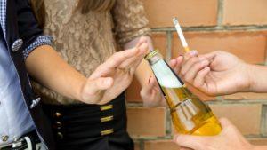 Отказ от курения и спиртного