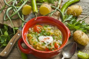Летние овощные супы