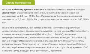 Состав Панкреатина