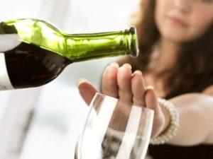 Во время лечения следует отказаться от алкоголя