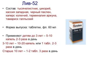 Состав препарата Лив.52